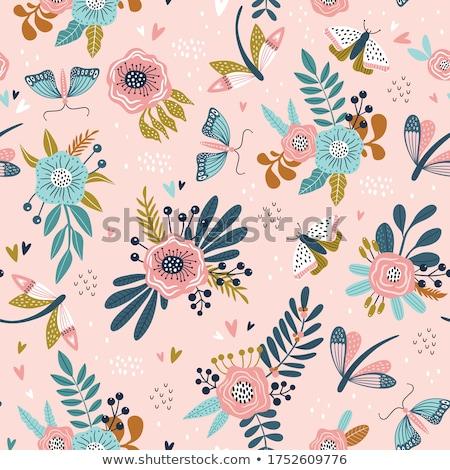 vliegen · bloemen · vector · sjabloon · kunst - stockfoto © blackmoon979