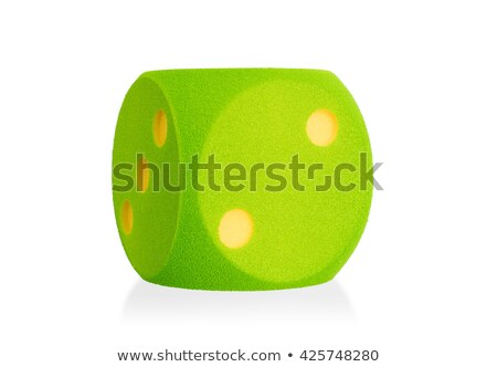 Large green foam die isolated - 2 Stock photo © michaklootwijk