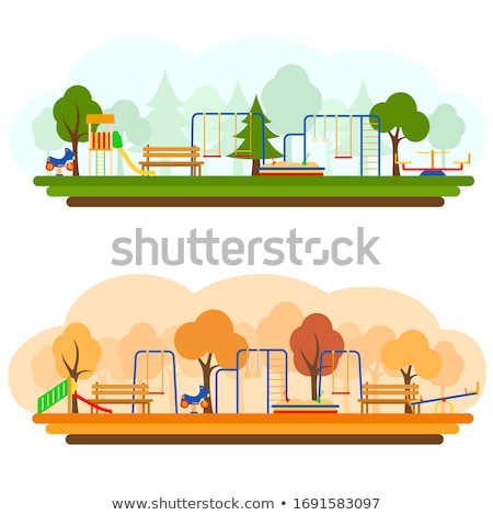 公園 遊び場 秋 ストックフォト © brianguest