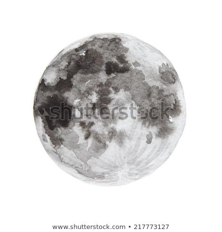 moon painted Stock photo © blackmoon979