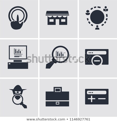 store analytics icon grey button design stock photo © wad
