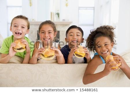 十代の少年たち · ファストフード · 一緒に · 食品 · 友達 - ストックフォト © monkey_business