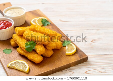 fried fish nuggets Stock photo © Digifoodstock
