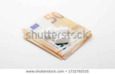 close up of addict paying money to drug dealer Stock photo © dolgachov