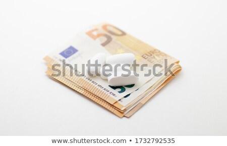 drogas · imagen · arma · dólares · cocaína - foto stock © dolgachov