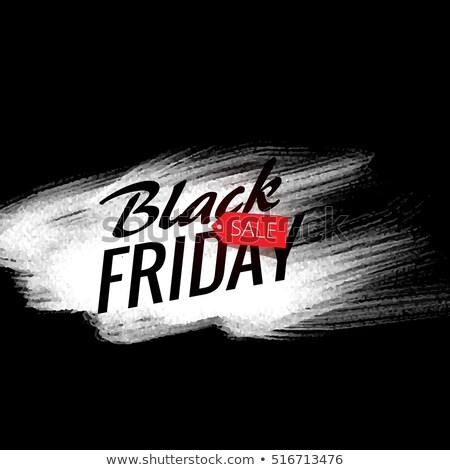 черная пятница продажи плакат белый Сток-фото © SArts