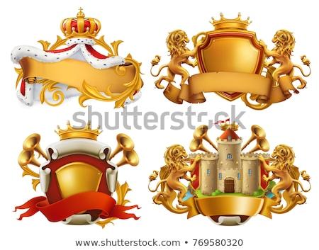 Oroszlán királynő logo logoterv 10 üzlet Stock fotó © sdCrea