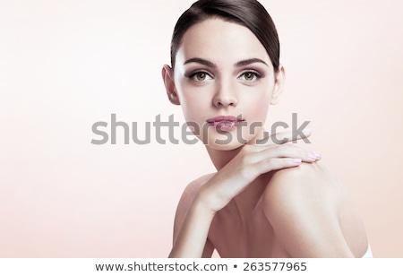 Portret verleidelijk jonge brunette dame vrouw Stockfoto © majdansky