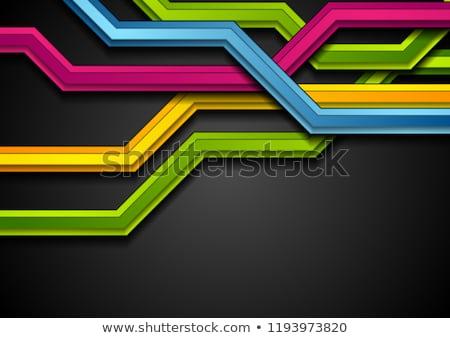 Violeta brillante técnica vector triángulo formas Foto stock © fresh_5265954