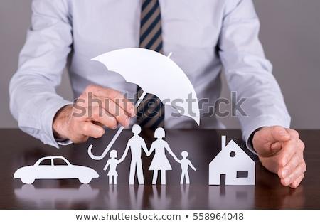 成功した · 男 · 傘 · ビジネスマン · 立って · 保護 - ストックフォト © rastudio