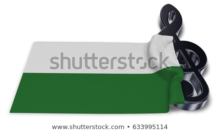 clef symbol and saxon flag - 3d rendering Stock photo © drizzd