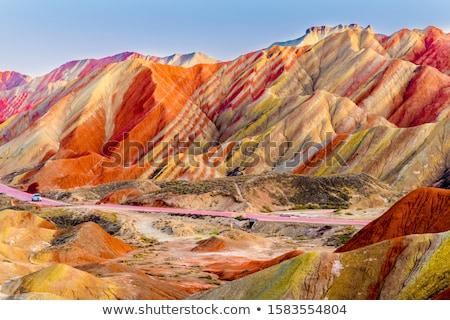 Paisagem arco-íris montanhas verão Foto stock © Kotenko