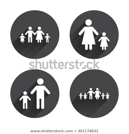 large white circles and gray shadows illustration stock photo © alexmillos
