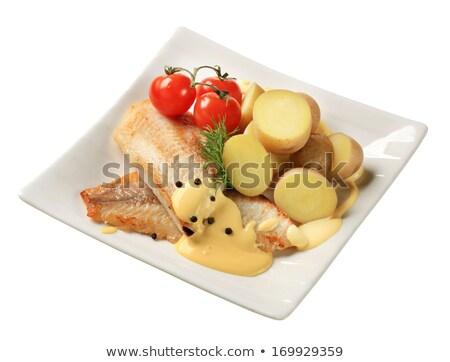 Serpenyő sült hal filé új krumpli Stock fotó © Digifoodstock