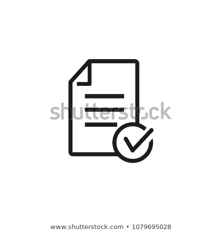 Approved Concept on File Label. Stock photo © tashatuvango
