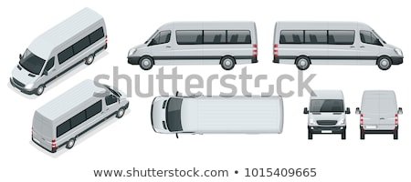 アイソメトリック マイクロバス 車 貨物 ミニ バス ストックフォト © Genestro