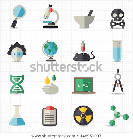 virus structure flat vector icon stock photo © ahasoft