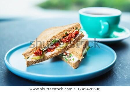 abobrinha · pão · fresco · fatias · raso · comida - foto stock © m-studio