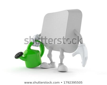 Verde manter botão teclado 3D Foto stock © tashatuvango