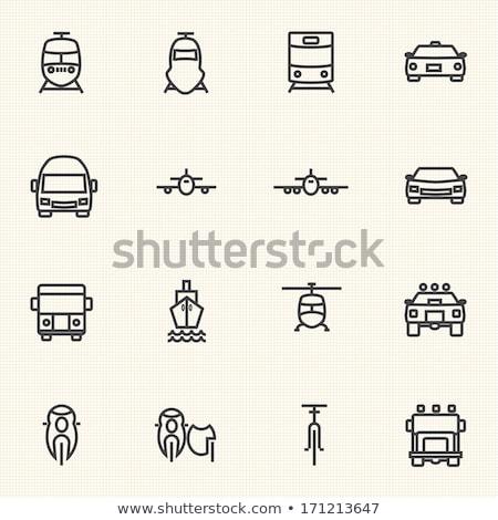 railroad shipping line icon stock photo © rastudio