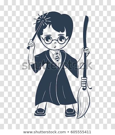 icon of a wizard boy stock photo © olena