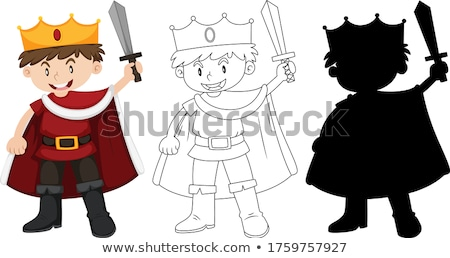 Boy wearing a knight costume Stock photo © IS2