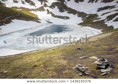 Sunlit snow covered hilltops Stock photo © pictureguy