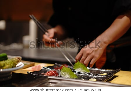 sushi rolls japanese food restaurant fish rice stock photo © dmitriisimakov