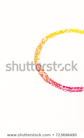 Close up of chalk pastels with red to yellow gradation Stock photo © deandrobot