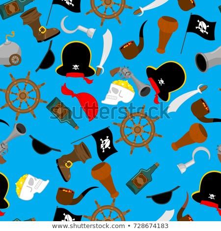 Pirate seamless pattern. piratical accessory ornament. buccaneer Stock photo © popaukropa