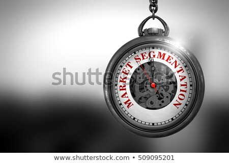 market segmentation on vintage watch face 3d illustration stock photo © tashatuvango