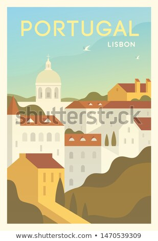 Portugal. Time to Travel. Journey, trip and vacation. Vector travel illustration. Stock photo © Leo_Edition