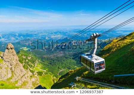 Zdjęcia stock: Kabel · samochodu · szczyt · góry · Polska · charakter