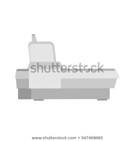 öreg fax telefon berendezés izolált irodai asztal Stock fotó © popaukropa