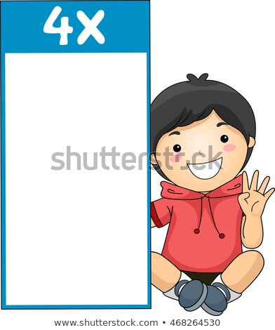Kid Boy Multiplication Table Flash Card Four Stock photo © lenm