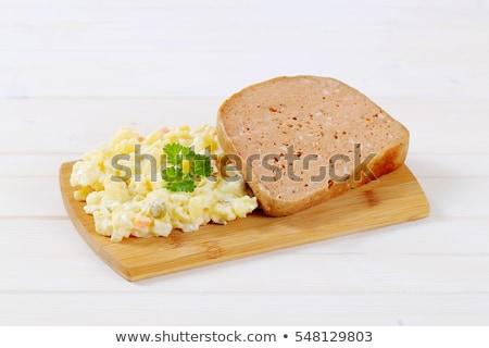 自家製 · ポテトサラダ · 材料 · オリーブオイル · 酢 - ストックフォト © digifoodstock
