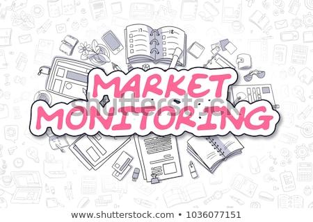 Mercado rabisco magenta texto negócio Foto stock © tashatuvango