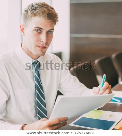 ビジネスマン 空っぽ 会議室 男 スーツ 徒歩 ストックフォト © IS2