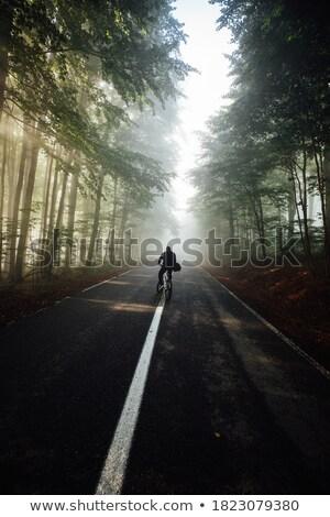 Adam orman manzara eğlence ayakta çevre Stok fotoğraf © IS2