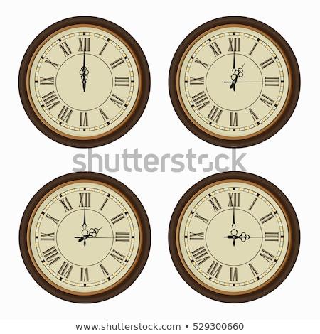 öreg fal óra számok tű számjegyek Stock fotó © milisavboskovic