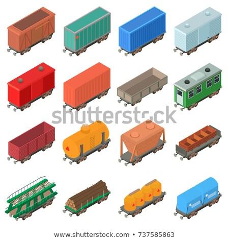 Stockfoto: Moderne · trein · geïsoleerd · isometrische · 3D · icon