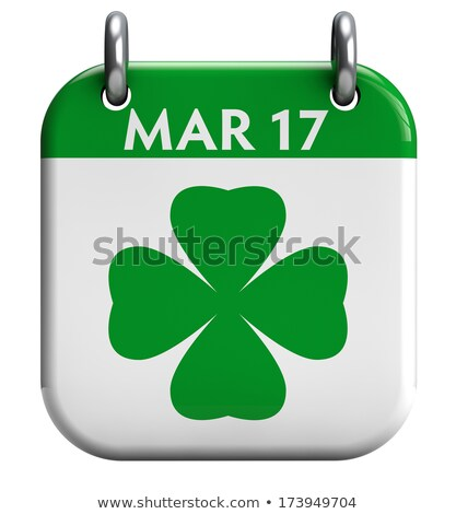 17 día hoja trébol calendario recordatorio Foto stock © orensila