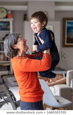 Grand-mère petit-fils bébé Homme Homme Photo stock © IS2