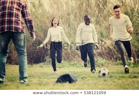 глядя · вниз · детей · счастливым · подростков · мальчика - Сток-фото © is2