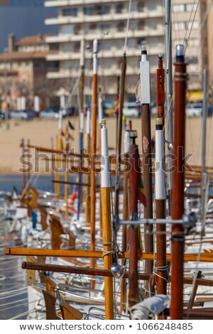 Nice Traditional Spanish Boats On The Harbor Palamos In Costa Brava Stock photo © Digoarpi