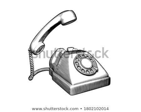 Conversation. Side view of antique telephone Stock photo © Arsgera