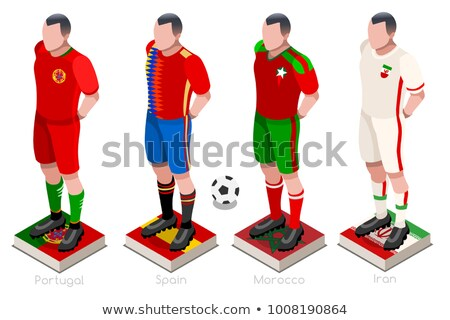 2018 soccer world championship. Set flags of group B - Portugal, Spain, Morocco, Iran Stock photo © orensila