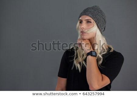 Thoughtful transgender woman wearing knit hat Stock photo © wavebreak_media
