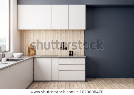 Kitchen Interior Design Template with Appliances Stock photo © robuart
