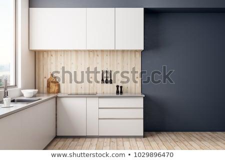 kitchen interior design template with appliances stock photo © robuart